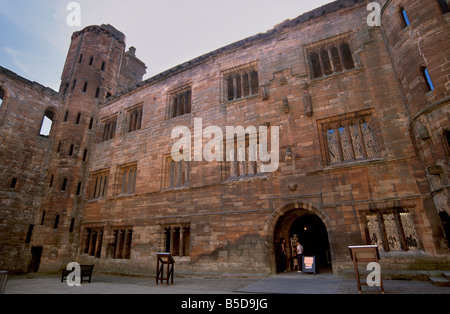 Interior facade, Linlithgow Palace dating from between the 15th and 16th centuries, West Lothian, Scotland, Europe - Stock Photo