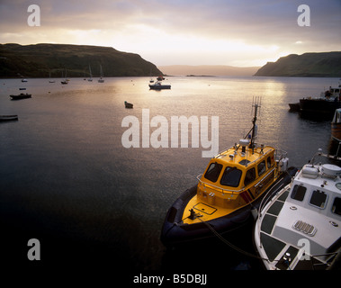 Portree harbour, Portree, Isle of Skye, Inner Hebrides, Scotland, Europe - Stock Photo
