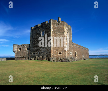 Blackness Castle dating from the 14th century, Blackness, West Lothian, Scotland, Europe - Stock Photo