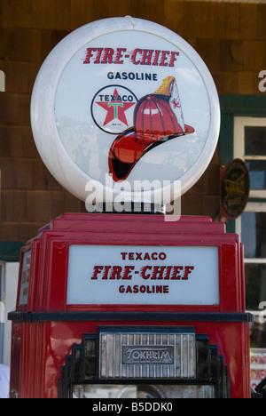 Fire-Chief Gas Pump - Stock Photo
