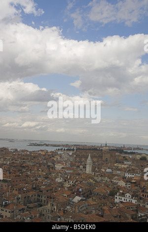 View from top of Bell Tower Saint Marks Square - Stock Photo