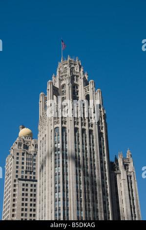 Tribune Tower, Chicago, Illinois, USA, North America - Stock Photo