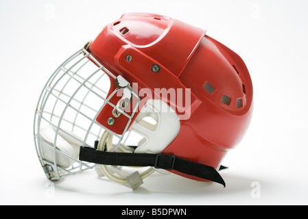 Hockey helmet, side view - Stock Photo