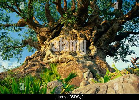 The Tree of Life, Animal Kingdom, Disneyworld, Orlando, Florida, USA, North America - Stock Photo