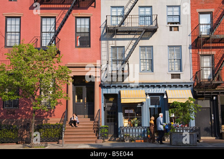 9th Avenue in Chelsea District, Midtown Manhattan, New York City, USA, North America - Stock Photo