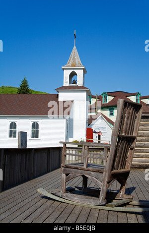 Pioneer Church in Frontier Village, Jamestown, North Dakota, USA, North America - Stock Photo