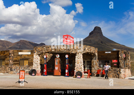 Historic Gas Station, Route 66, Cool Springs, Arizona, USA, North America - Stock Photo