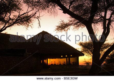 Sunrise Tarangire Safari Lodge Tarangire National Park Tanzania - Stock Photo