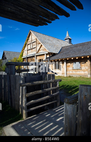 Authentic Huron Indian Village near Midland Ontario Canada - Stock Photo