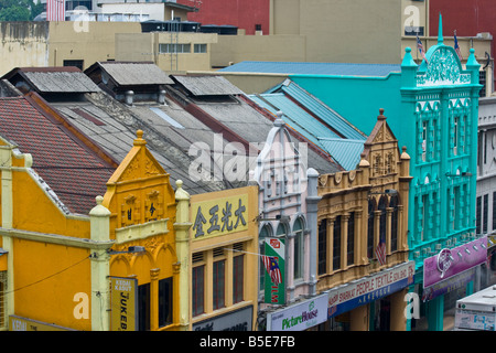 Traditional Chinese Shophouses In Chinatown In Kuala