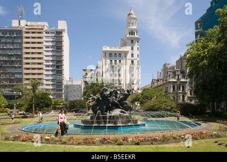 Plaza Fabini Montevideo Uruguay South America - Stock Photo