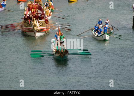 Olimpic champion Rossano Galtarossa during Venice Historical regatta Grand Canal Venice Italy - Stock Photo