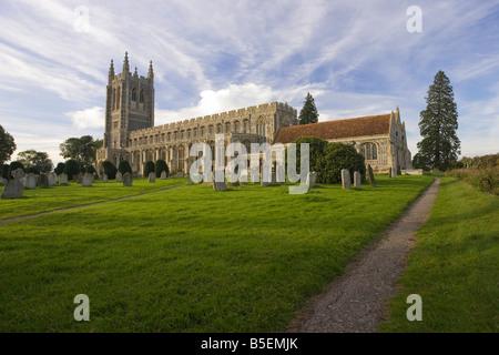 Holy Trinity Church in Long Melford, Suffolk, UK - Stock Photo