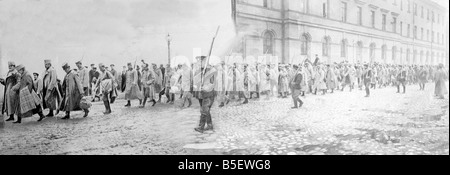 German prisoners captured after the Russian army advance into Prussia and the Austro -Hungarian  empire. Circa September - Stock Photo