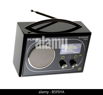 Portable DAB radio by PURE - Stock Photo