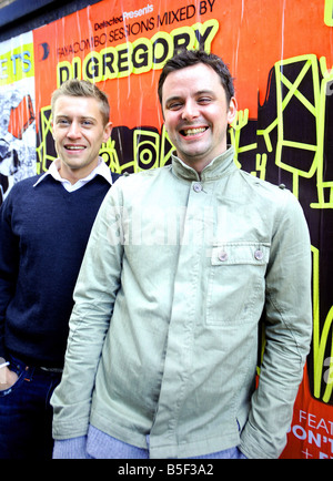 Adam Goodyer left and James Perkins from Brixton South London The pair have a set up a live concert video production - Stock Photo