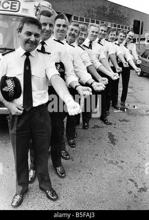 The ambulancemen who volunteered to give blood l r Alan Jones Brian Gray Howard Gray Bill Robson Bill Huddleston - Stock Photo