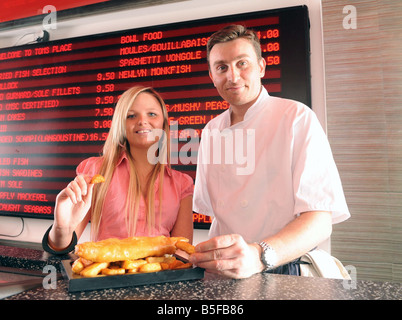 Sheree Pearson 19 year old has been crowned winner of the Mirror s Fit n Chips contest and she now hopes tofollow - Stock Photo