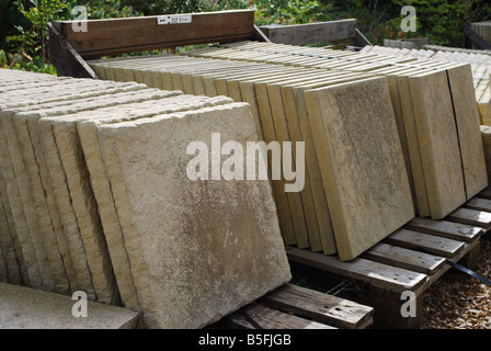 Superb ... Stone Flags For Sale In Garden Center   Stock Photo