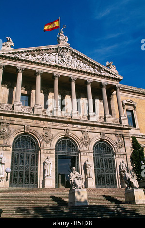 Spain - Madrid - Biblioteca Nacional - National Library - Stock Photo