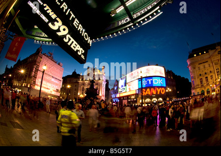 Piccadilly Circus is a famous road junction and public space of London s West End in the City of Westminster Piccadilly - Stock Photo