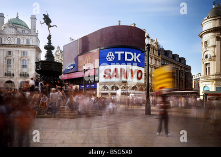 Picadilly Circus London underground station west end England - Stock Photo