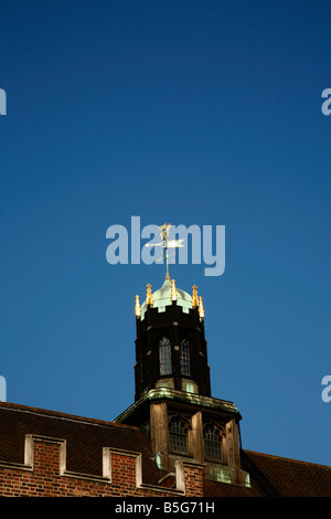 Weathervane tower on top of Middle Temple Hall, Middle Temple, London - Stock Photo