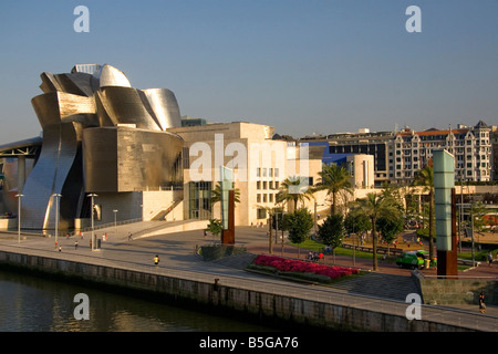 The Guggenheim Museum in the city of Bilbao Biscay Basque Country northern Spain - Stock Photo
