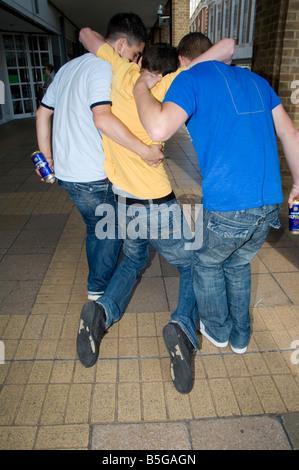 Drunk teen boys