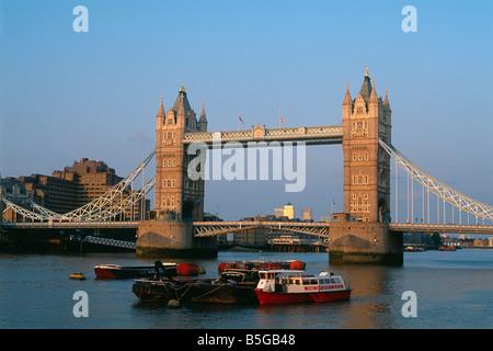 Great Britain - London - The City - Tower Bridge - Stock Photo