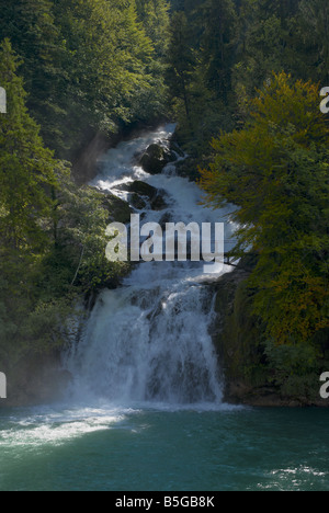 Giessbach Falls Bernese Oberland Switzerland - Stock Photo