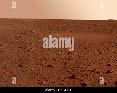 The rocky surface of Mars. - Stock Photo