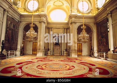 Spain -  Madrid -  'Palacio Real' - Royal Palace - the Halberdiers room - Stock Photo