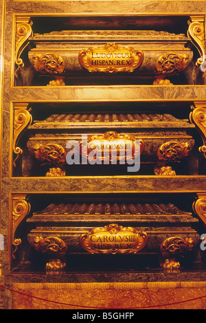 Spain - Madrid - El Escorial - Royal Monastery of San Lorenzo El Real - Pantheon of the Kings - Stock Photo