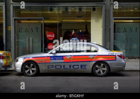 Metropolitan police car Radip respoce vehicle parked in Central London UK - Stock Photo