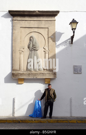 A man on the street of Vejer de la Frontera, Spain - Stock Photo