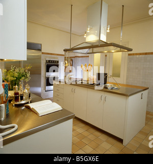 Kitchen Island Extractor Fans steel extractor fan above island unit with underset double steel