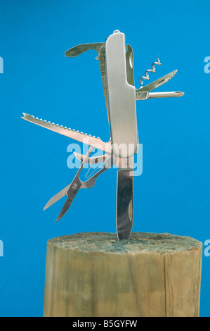 Chinese copy of a Swiss Army knife - Stock Photo
