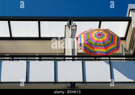 colorful sunshade upon a balcony Stock Photo: 280802446 - Alamy