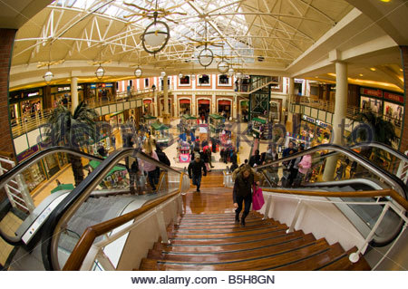 Alfred Mall Victoria Albert Waterfront Cape Town South Africa - Stock Photo