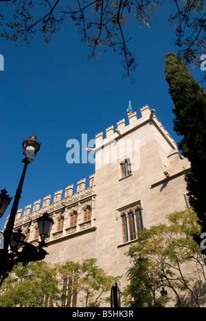 La Lonja de la Seda formally a commodity exchange in the historical city centre of Valencia Spain - Stock Photo