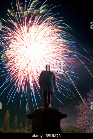 Fireworks Display in Northwich, Cheshire, England, UK - Stock Photo