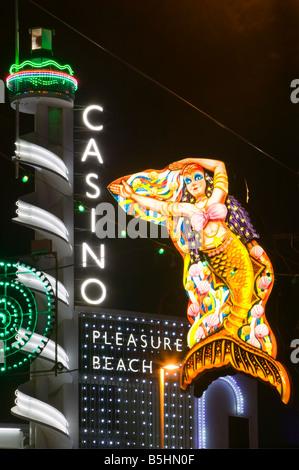 The Pleasure Beach Casino, Blackpool, Lancashire, England, UK. - Stock Photo
