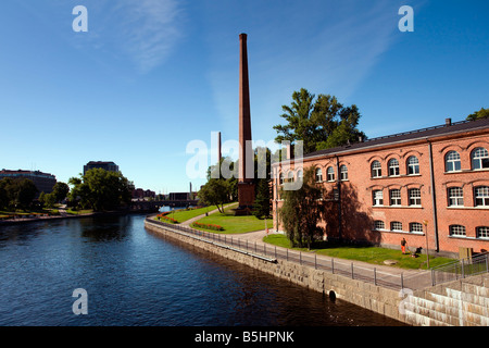 Tampere: Finlayson Factory Old Buildings - Stock Photo