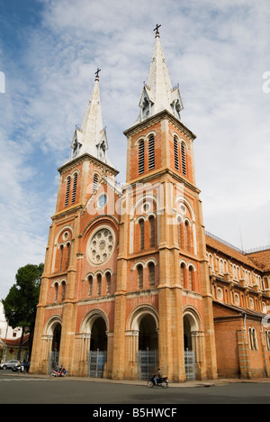 Notre-Dame Cathedral Basilica of Saigon, HoChi Minh City, Vietnam - Stock Photo