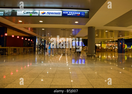 Inside Barcelona airport in the departures lounge El Prat, Barcelona, Spain - Stock Photo