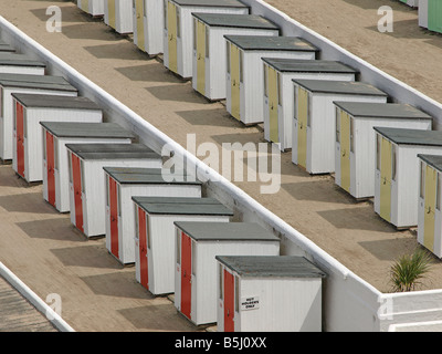 Beach Huts in Cornwall, Southern England - Stock Photo