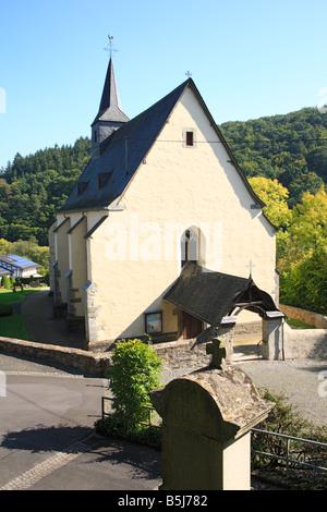 Wallfahrtskirche im Dorf Wirzenborn, Montabaur, Naturpark Nassau, Westerwald, Rheinland-Pfalz - Stock Photo