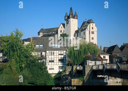 Grafenschloss Diez, Lahntal, Rheinland-Pfalz - Stock Photo