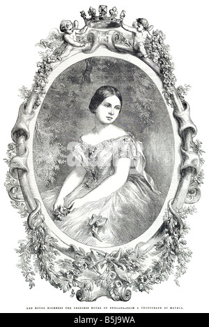 Her royal highness the princess royal of England from a photograph by Mayall May 24 1856 The Illustrated London - Stock Photo